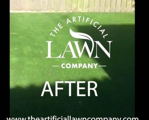 Artificial grass lawn installation Kirkintilloch, near Glasgow by The Artificial Lawn Company, Livingston, West Lothian