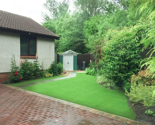 Artificial Grass Installation Glenrothes Fife by the artificial lawn company, Livingston, West Lothian