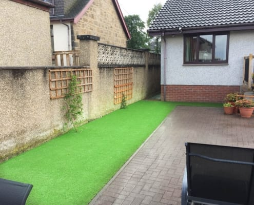 Artificial Grass Installation Denny by The Artificial Lawn Company, West Lothian, Scotland.