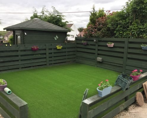 Artificial Grass Installation Neilston Near Glasgow, by The Artificial Lawn Company, Livingston, West Lothian.