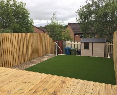 an artificial grass install by the artificial lawn company, Livingston, West Lothian.