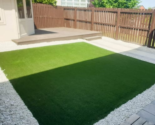 Artificial Lawn Installation Feriegair, Hamilton by The Artificial Lawn Company, Livingston, West Lothian.