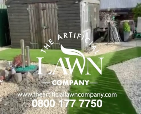 An artificial grass installation, Falkirk, Central Regions, Scotland by The ArtificialLawn Company, Livingston, West Lothian.