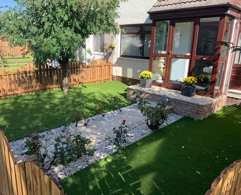 Artificial Turf Installation Motherwell by The Artificial Lawn Company Livingston, West Lothian.