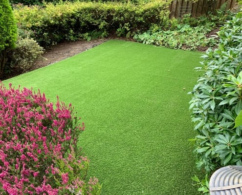 Artificial Grass Installation Crammond by The Artificial Lawn Company, Livingston, West Lothian.