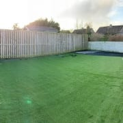 Artificial Turf installation Barntongate Edinburgh by The Artificial Lawn Company, Livingston, West Lothian.