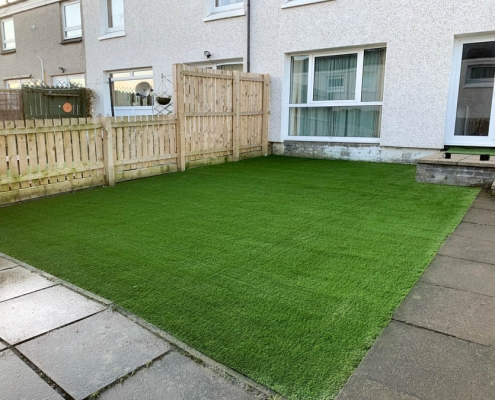 Artificial grass lawn Livingston installed by The Artificial Lawn Company, Livingston, West Lothian
