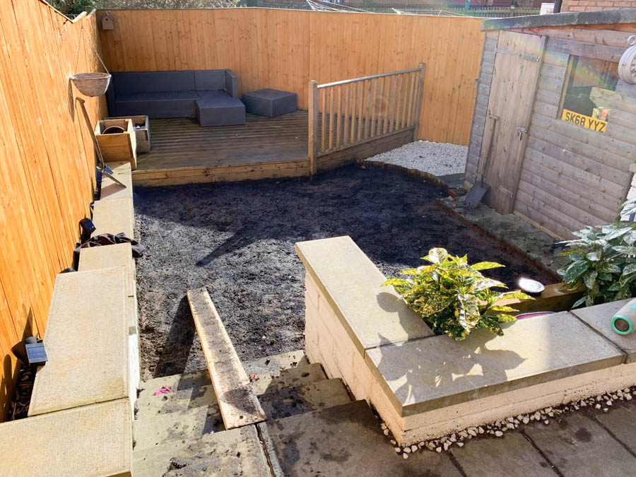 An Artificial lawn Installation Bo'ness, by The Artificial Lawn Company, West Lothian.