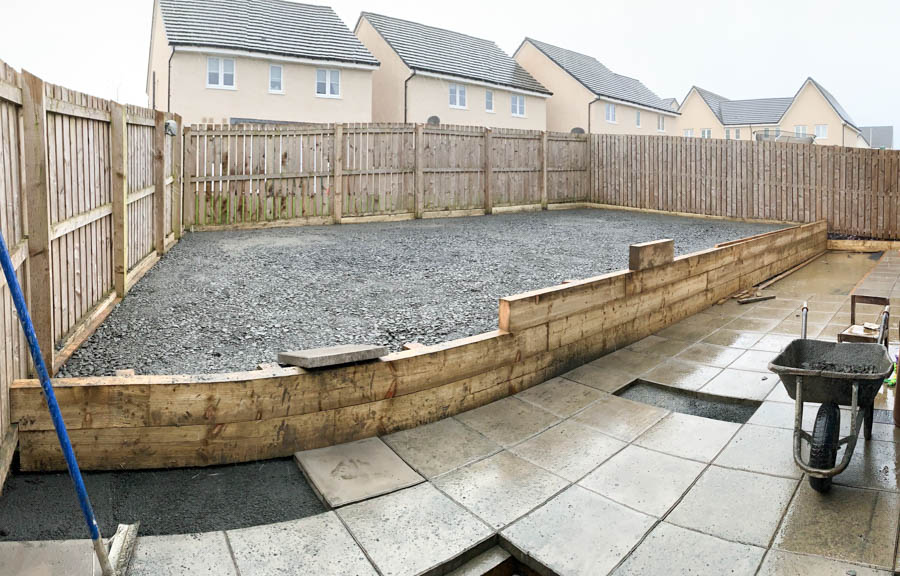 An artificial turf installation Livingston, West Lothian by The Artificial Lawn Company, Scotland.