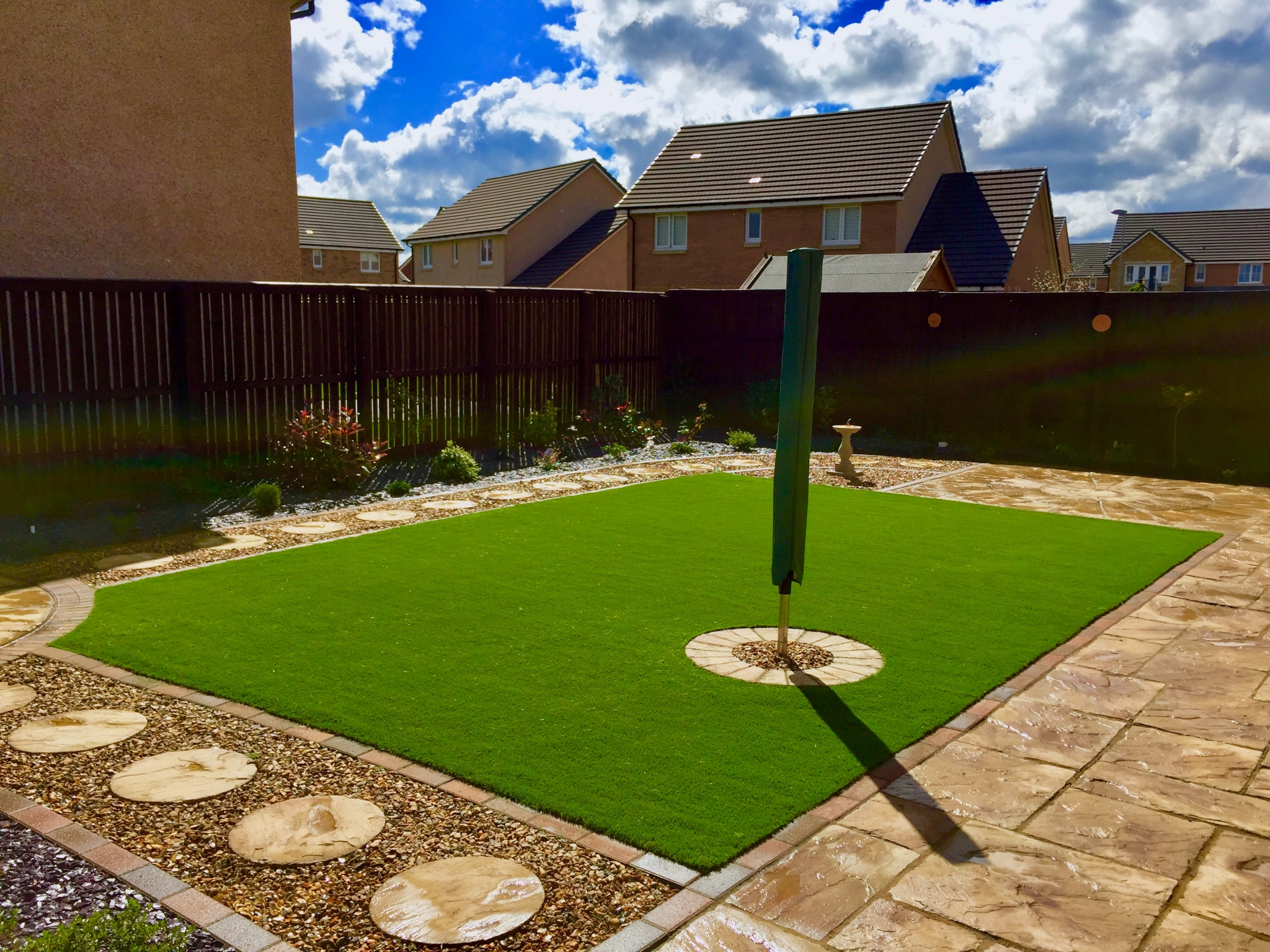 Artificial grass Installation Scotland by The Artificial Lawn Company, Livingston, West Lothian.